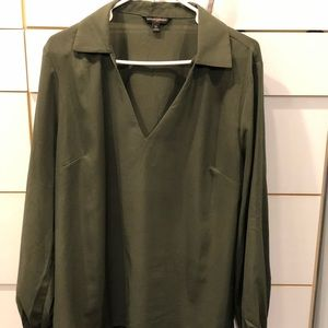 Banana Republic XL green blouse